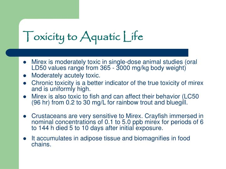 Toxicity to Aquatic Life