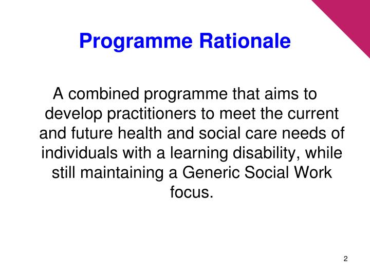 Programme rationale