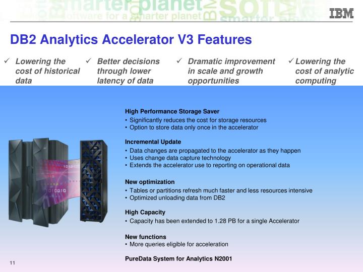 DB2 Analytics Accelerator V3 Features