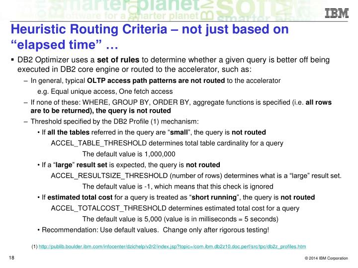 """Heuristic Routing Criteria – not just based on """"elapsed time"""" …"""