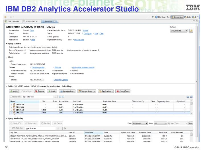 IBM DB2 Analytics Accelerator Studio