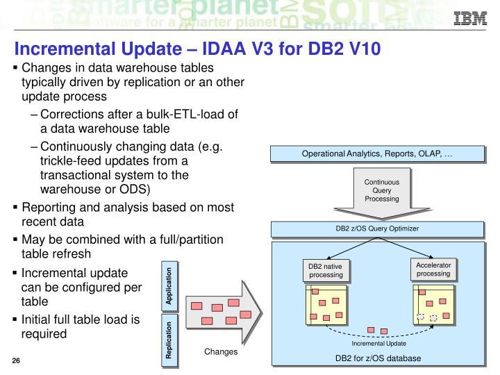 Incremental Update – IDAA V3 for DB2 V10