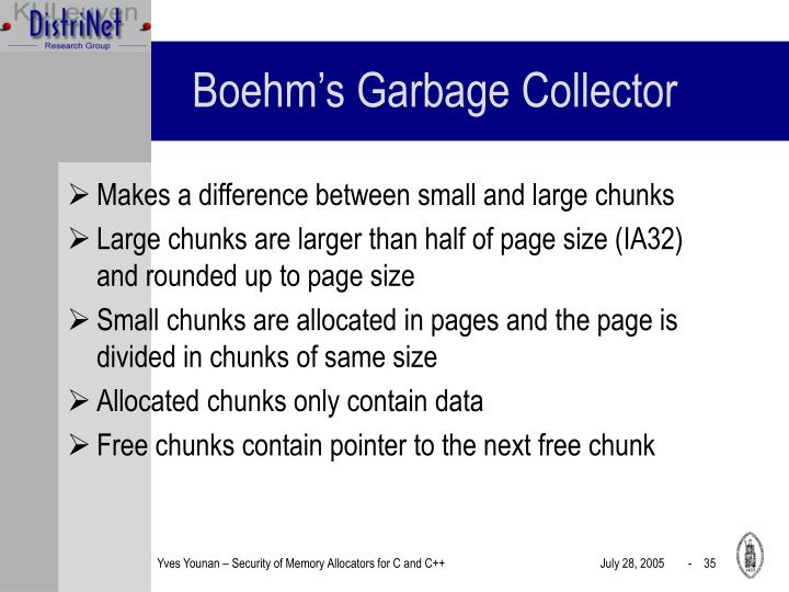 Boehm's Garbage Collector