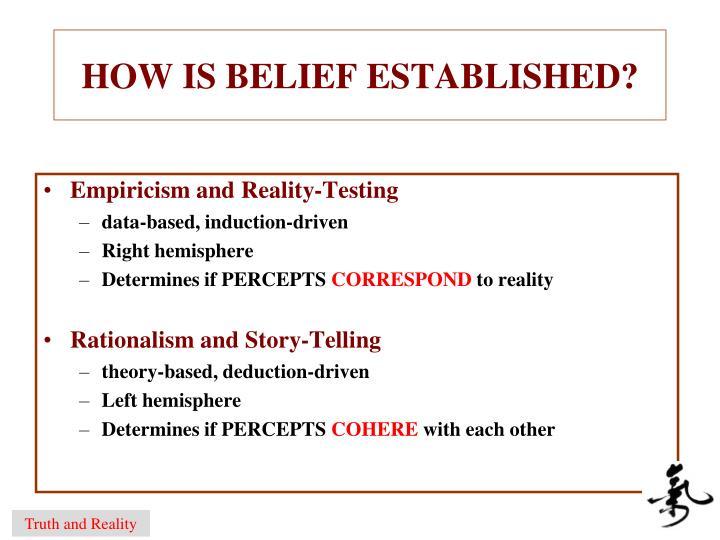 HOW IS BELIEF ESTABLISHED?