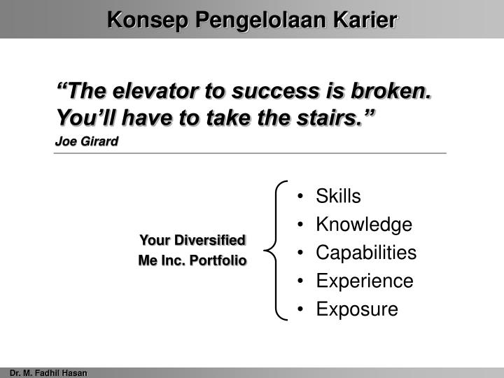 """The elevator to success is broken. You'll have to take the stairs."""