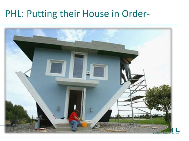 PHL: Putting their House in Order-