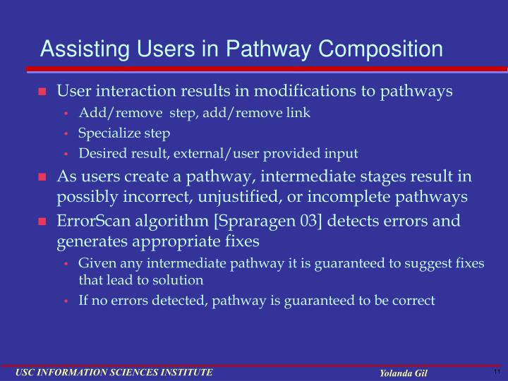 Assisting Users in Pathway Composition