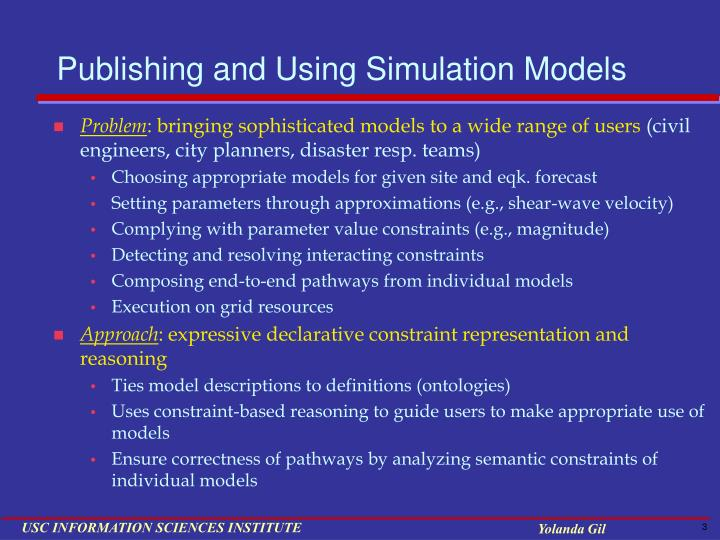 Publishing and using simulation models