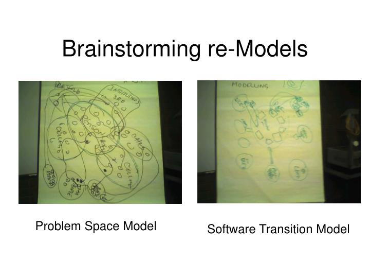 Brainstorming re-Models