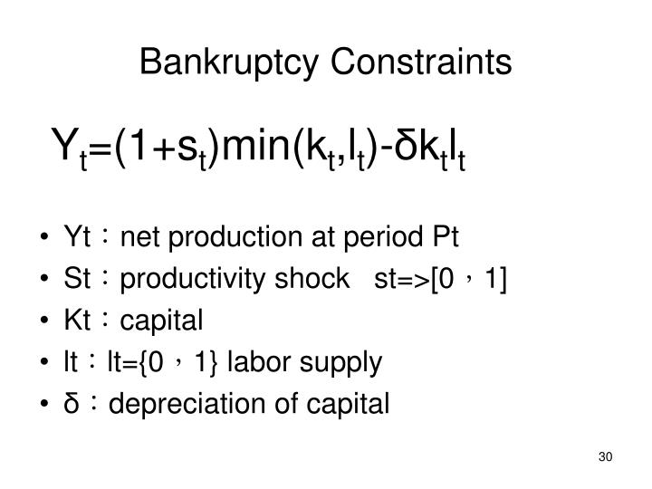 Bankruptcy Constraints