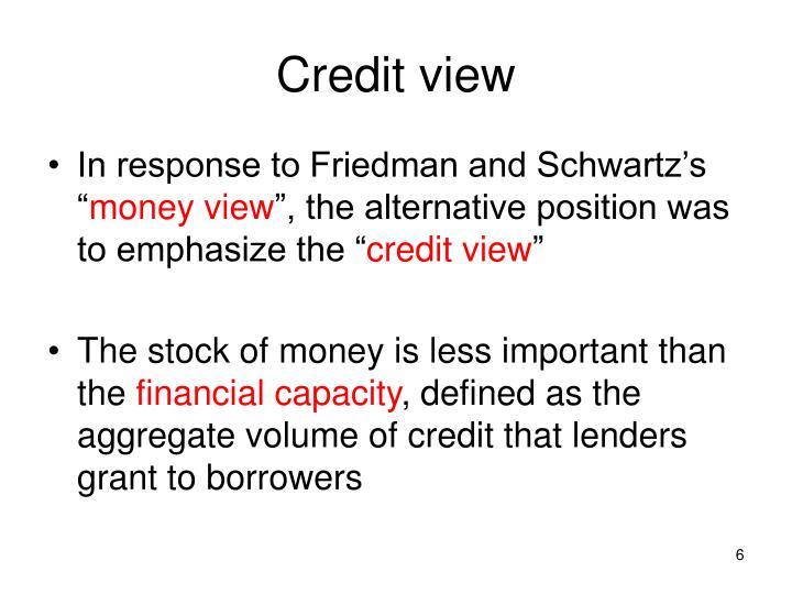 Credit view