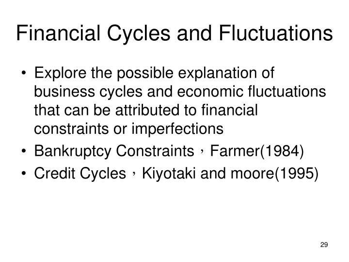 Financial Cycles and Fluctuations