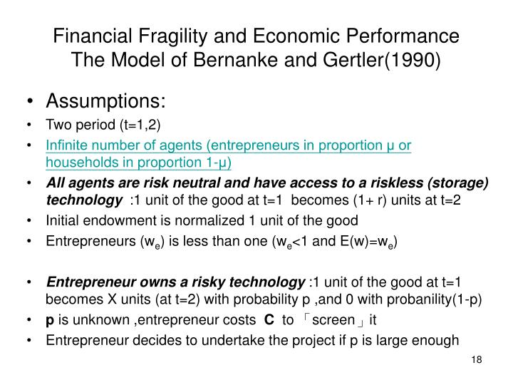 Financial Fragility and Economic Performance