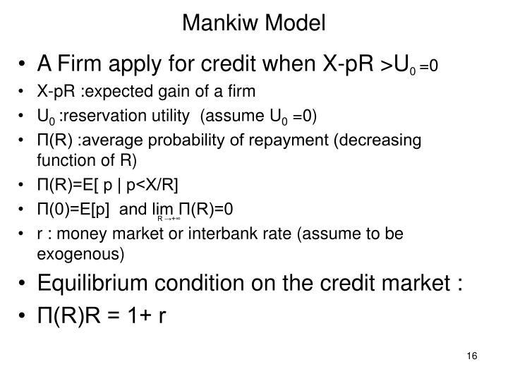 Mankiw Model