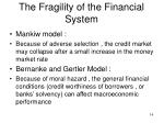 the fragility of the financial system1