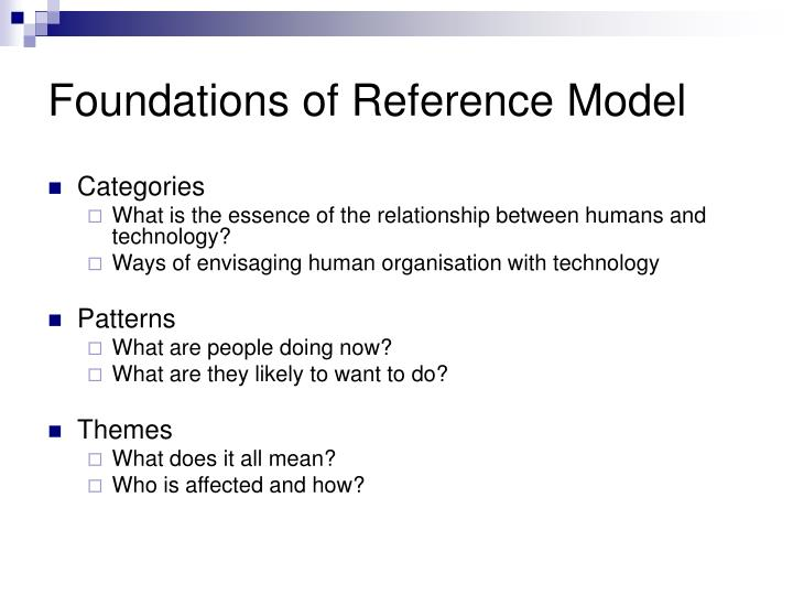 Foundations of Reference Model