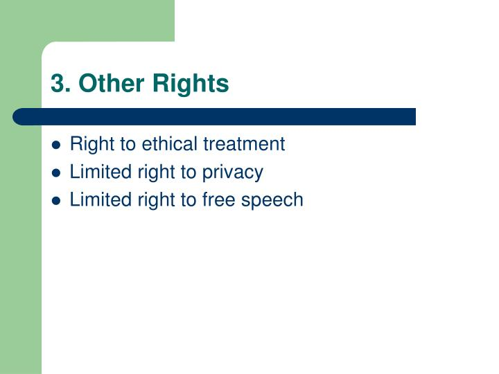 3. Other Rights