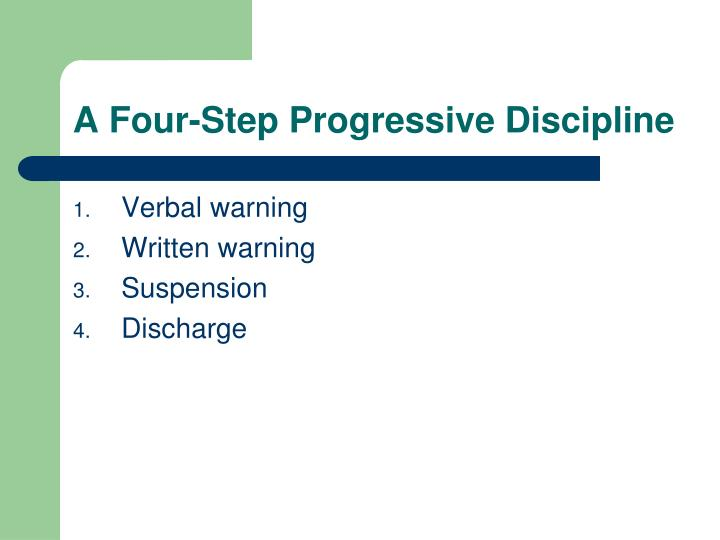A Four-Step Progressive Discipline
