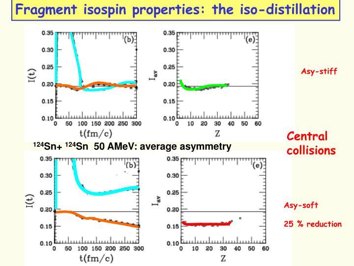 Fragment isospin properties: the iso-distillation