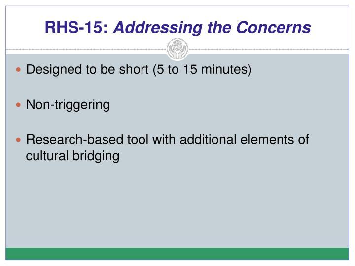 RHS-15: