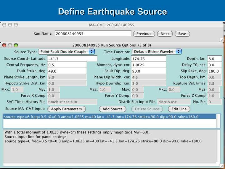 Define Earthquake Source