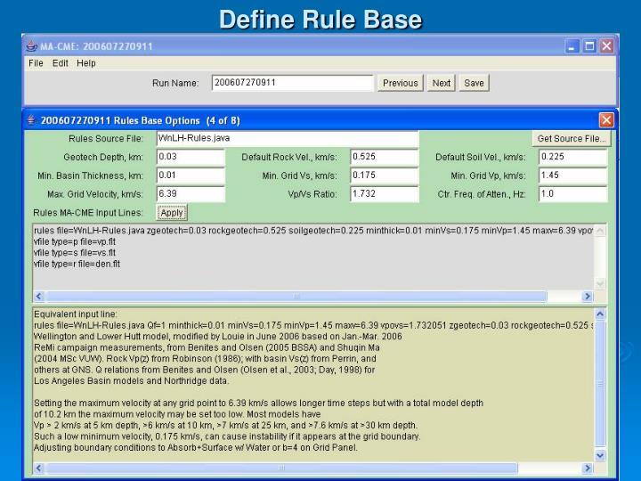 Define Rule Base