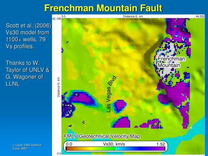Frenchman Mountain Fault