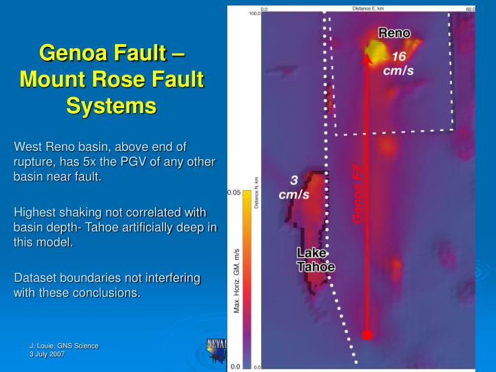 Genoa Fault – Mount Rose Fault Systems