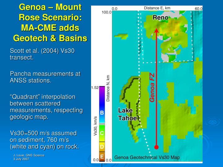 Genoa – Mount Rose Scenario: