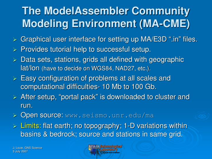 The ModelAssembler Community Modeling Environment (MA-CME)