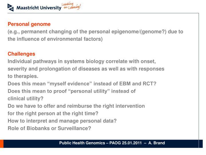 Personal genome