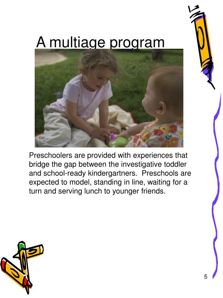 A multiage program