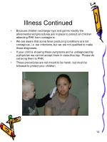 illness continued