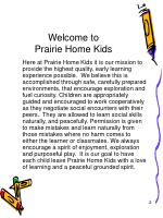 welcome to prairie home kids