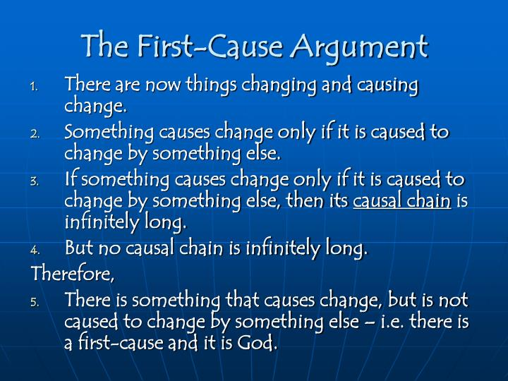 The First-Cause Argument