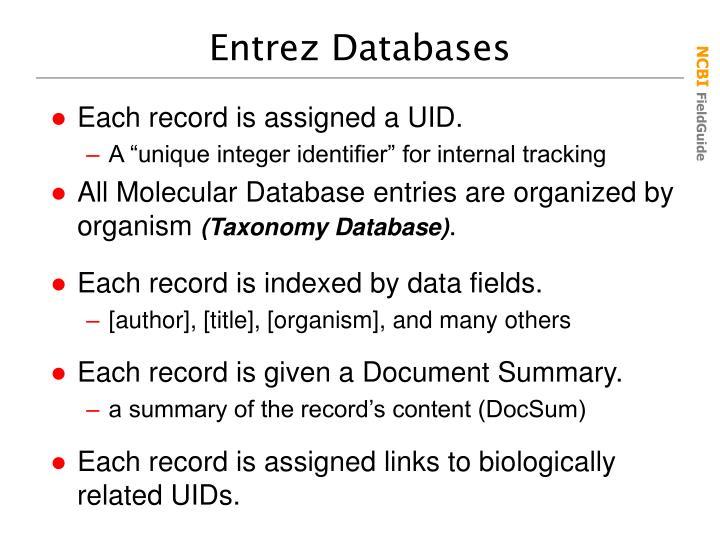 Entrez Databases