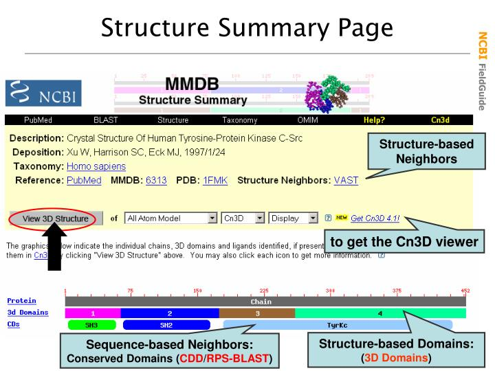 Structure Summary Page