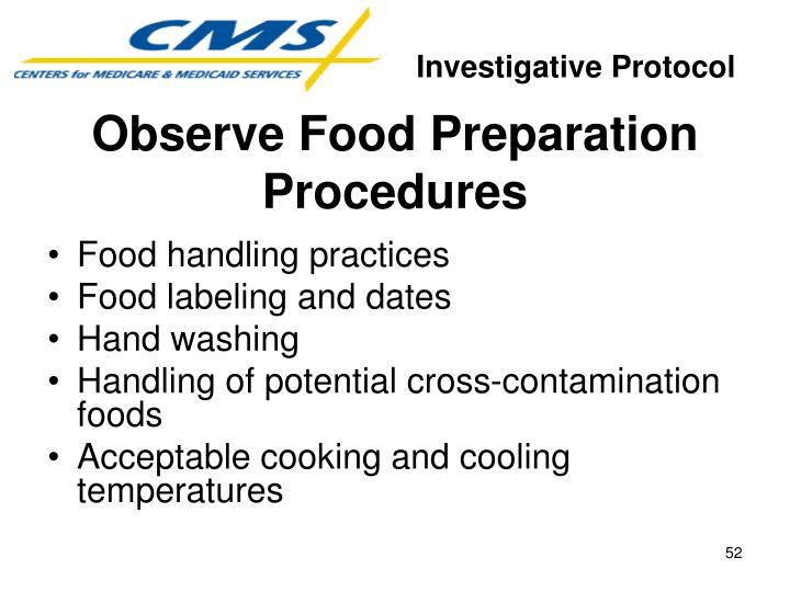 Investigative Protocol