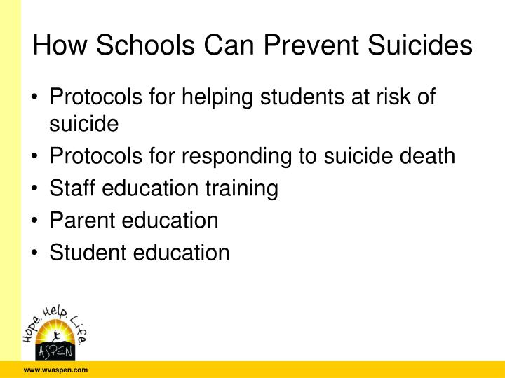 How Schools Can Prevent Suicides