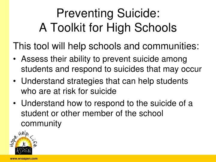 Preventing Suicide: