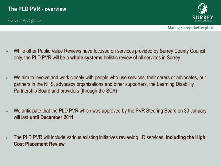 The PLD PVR - overview