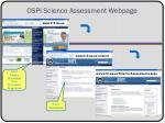 ospi science assessment webpage