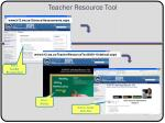 teacher resource tool