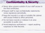 confidentiality security