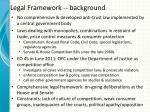 legal framework background
