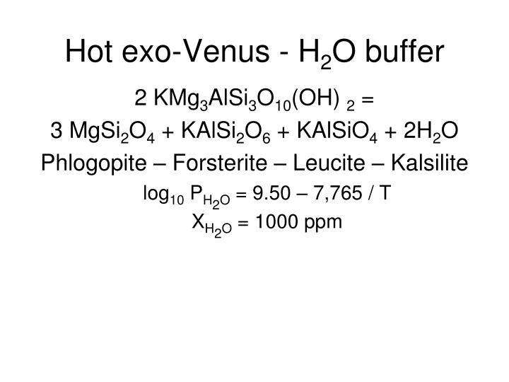 Hot exo-Venus - H