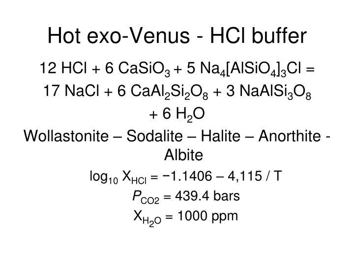 Hot exo-Venus - HCl buffer