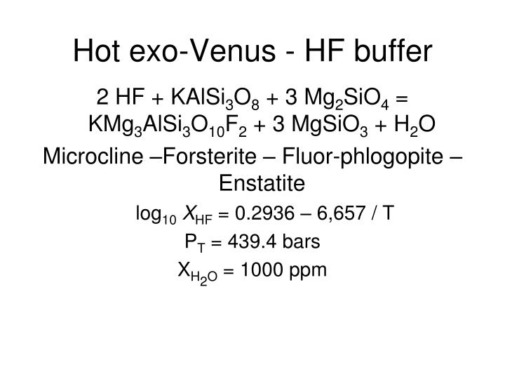 Hot exo-Venus - HF buffer