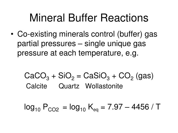 Mineral Buffer Reactions