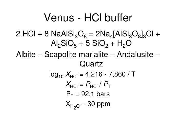 Venus - HCl buffer